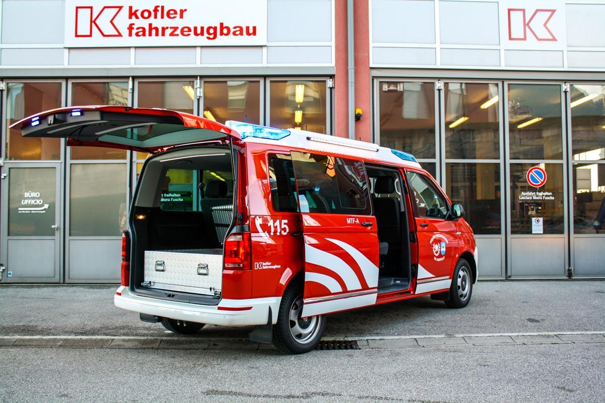 FF Martell Feuerwehrfahrzeug VW T6 Caravelle Kofler Fahrzeugbau