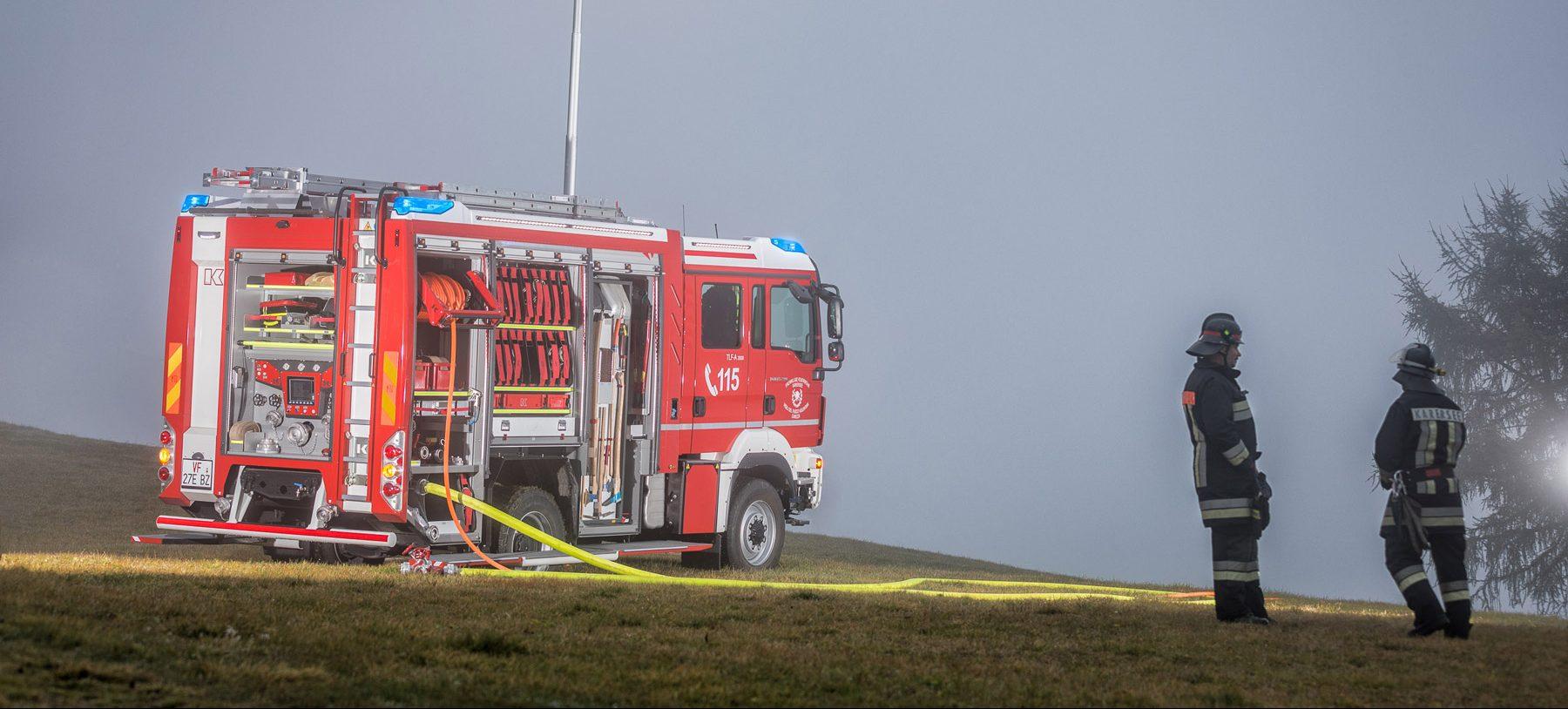 Kofler Fahrzeugbau Tanklöschfahrzeug FF. Karersee